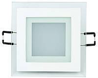 LED Светильник встр. стекло HOROZ ELECTRIC (квадрат) MARIA-6 HL684LG 6W 6400K