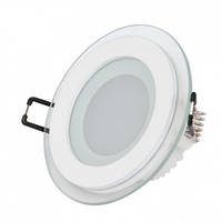 LED Светильник встр. стекло HOROZ ELECTRIC (круг) CLARA-6 HL687LG 6W 4200K
