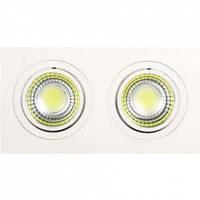 LED Светильник точечный поворотный HOROZ ELECTRIC (круг) ADRIANA-10 HL6702L 2*5W 2700К 736Lm металл 93х175мм