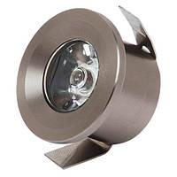 LED Светильник точечный HOROZ ELECTRIC хром MONICA HL665L 1W 2700K