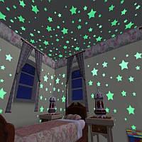"""Интерьерные наклейки в детскую светящиеся в темноте """"Звезды"""""""