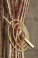 Шпилька для нитяних штор Преміум Овал Крапля золото матове