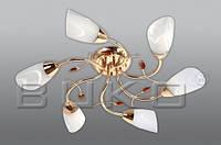 Люстра BUKO (107116) 6*Е14 золото+белый D620*H160мм