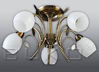 Люстра BUKO (108115) 5*Е27 бронза+белый
