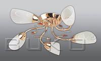 Люстра BUKO (107115) 5*Е14 золото+белый D620*H160мм