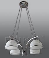 Люстра BUKO (111124) 4*E27 хром+белый D490*H800мм