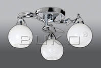 Люстра BUKO (118113) 3*Е14 хром+белый D460*H210мм