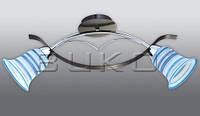 Люстра BUKO (129112) 2*Е14 хром+синий L710*W120*H120