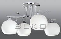 Люстра BUKO (147114) 4*Е27 хром+белый В570*280мм