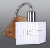 Бра BUKO 148101 1*E14 дерево+хром+белый 200*200*190мм