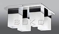 Люстра BUKO (171114) 4*Е27 хром+белый 350*350*180мм