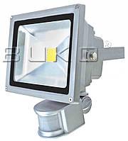 LED прожектор матричный с датчиком BUKO WT383/10W 6400K серый 800Lm