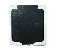 BUKO 4209 Розетка 1-ая с крышкой и заземлением IP54