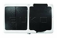 BUKO 4218 Выключатель 2-ой + Розетка 1-ая с крышкой  IP54