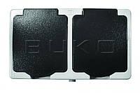 Бокс накладной BUKO 4219 Розетка 1-я с крышкой + Розетка 1-я с крышкой  IP54
