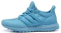 Женские кроссовки Adidas Ultra Boost All Light Blue Адидас Ультра Буст голубые
