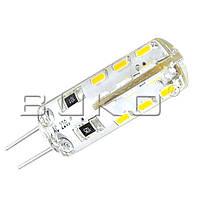 LED Лампа BUKO WT222/3000K 1.5W JC G4 12V 24LEDS 110Lm AC/DC