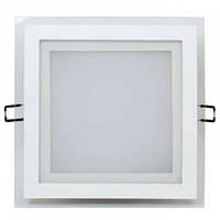 LED Светильник встр. стекло HOROZ ELECTRIC (квадрат) MARIA-15 HL686LG 15W 3000К