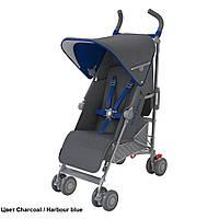 Детская прогулочная коляска-трость Maclaren Quest Charcoal/Harbour Blue