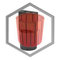Фильера графитовая IECO под 2 прутка ф6