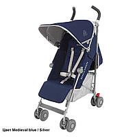 Детская прогулочная коляска-трость Maclaren Quest Medieval Blue/Silver