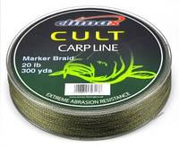 Шнур Маркерный Climax Cult Marker Braid 20lb 274m тонущий зелёный