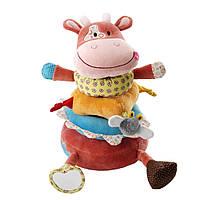 Lilliputiens - Мягкая игрушка-пирамида коровка Вики