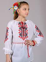 Вышиванка для девочки Украиночка (рукав 3/4) , рост 128-152
