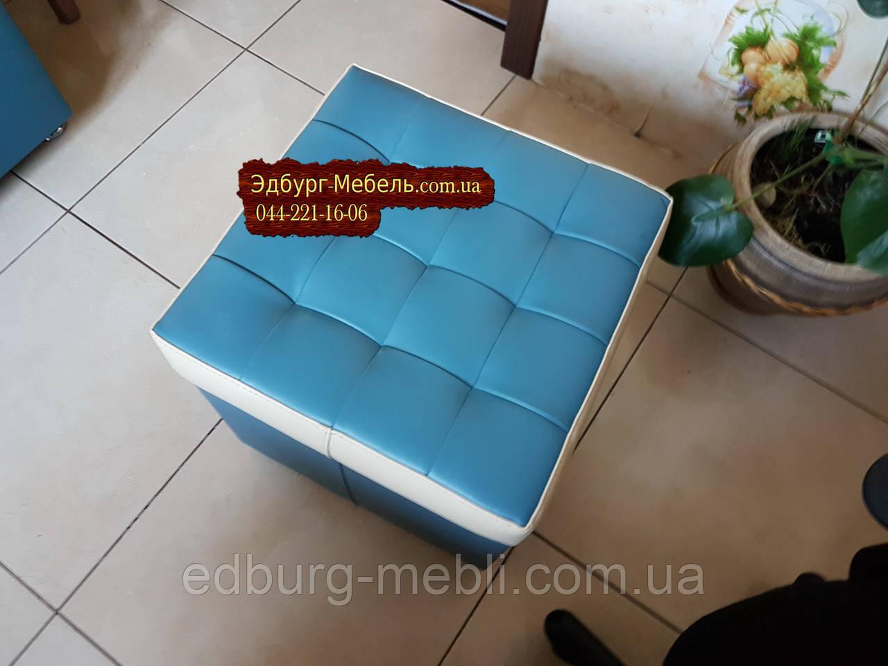 Пуф стёганный с ящиком
