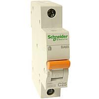 Автоматический выключатель ВА63 1П 25A C Schneider Electric