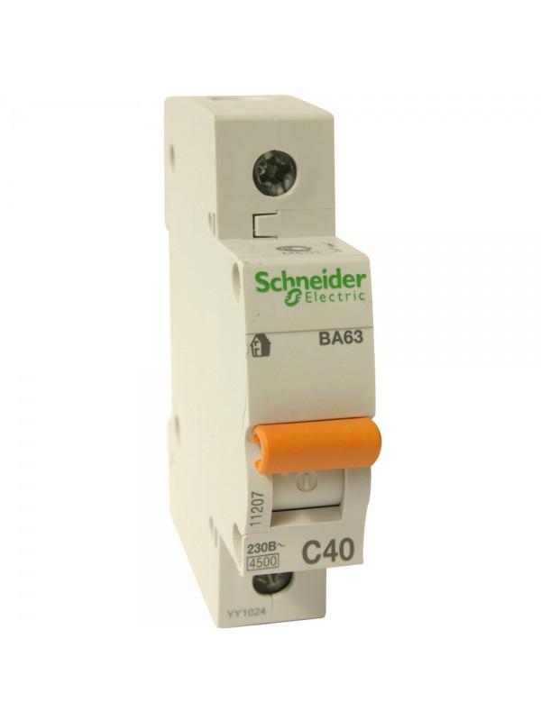 Автоматический выключатель ВА63 1П 40A C Schneider Electric