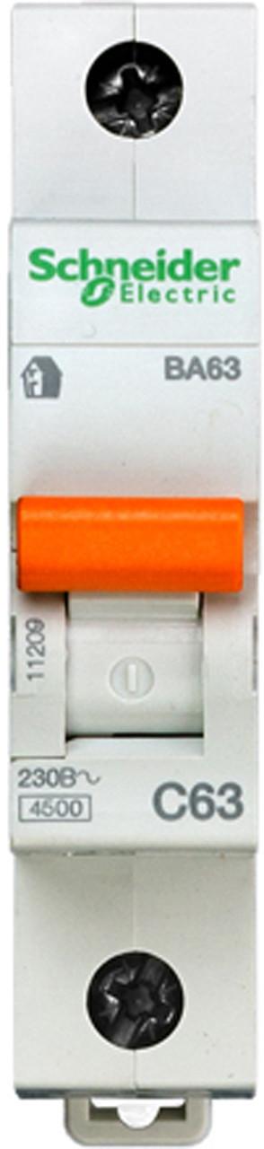 Автоматический выключатель ВА63 1П 63A C Schneider Electric