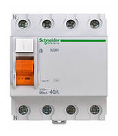 Диф. выключатель нагрузки (УЗО) ВД63 4П 40A 100МA Schneider Electric
