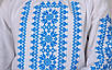 Вишиванка для дівчинки Орнамент (блакитний) , зростання 128-152, фото 5