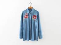 Рубашка женская вышитая NNT 873 Джинсовые рубашки с вышивкой