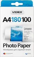 Videx Фотобумага HGA4 180/100 Глянцевая односторонняя 100 листов