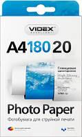 Videx Фотобумага HGA4 180/20 Глянцевая односторонняя А4 20 листов