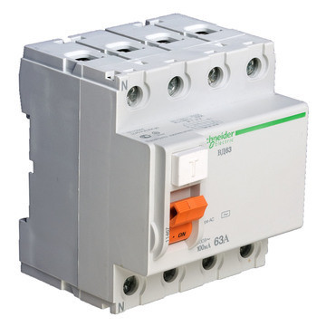Диф. выключатель нагрузки (УЗО) ВД63 4П 63A 100МA Schneider Electric