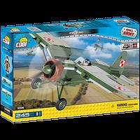 Конструктор Вторая Мировая Война Самолет PZL P.11C, серия Small Army WWII, COBI