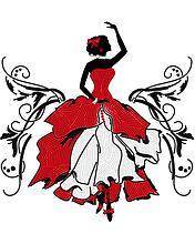 Схема на ткани для вышивания бисером Фламенко