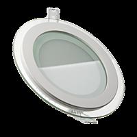 LED светильник LEDMAX круг 6W SMD5730 3200К стекло