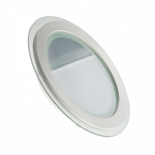 LED светильник LEDMAX круг 12W SMD5730 4200К стекло