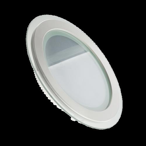 LED светильник LEDMAX круг 12W SMD5730 3200К стекло