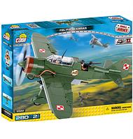 Конструктор Вторая Мировая Война Самолет PZL Карась P-23B, COBI