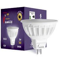 LED лампа Siriusstar MR16 (12V) 5W GU5.3 3000K (1-LS-2505)
