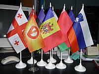 Флажки настольные с подставкой Киев, Луцк, Сумы, Кривой Рог
