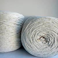 Толстая трикотажная пряжа в бобинах типа Spagetty Maccironi для вязания ковров и сумок