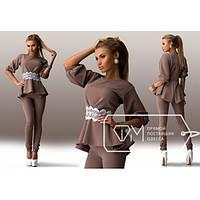 Стильный женский костюм блуза + лосины в расцветках