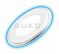 LED Светильник встраиваемый Стекло BUKO WT9021 18W (круг) 4000K (синяя подсветка)