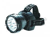LED Фонарь налобный BUKO WT387 12LED С АКБ (2.5-10 часов)